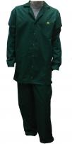 Антистатический зеленый костюм DOKA-НК-К